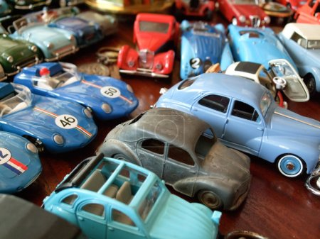 Colored toy cars