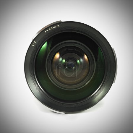 Photo for Camera lens isolated on a white background - Royalty Free Image
