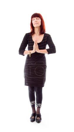 Woman in prayer position
