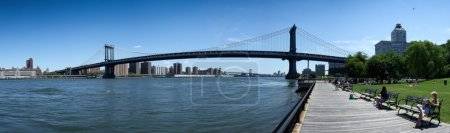 Photo for Low angle view of a bridge, Brooklyn Bridge, New York City, New York State, USA - Royalty Free Image