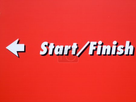Starting and finishing line