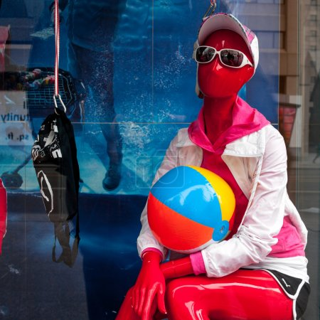 Mannequin with a ball
