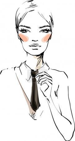 Illustration for The young woman in a business suit - Royalty Free Image