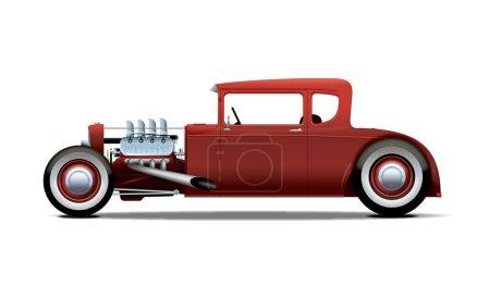 Illustration for Red hotrod - Royalty Free Image