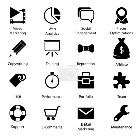 Illustration pour SEO icônes vol 2 - image libre de droit