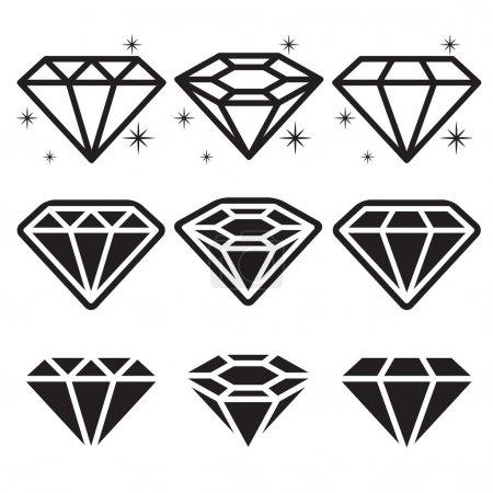 Diamond Icons Set