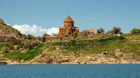 Akdamar Island church on Van Lake Turkey.