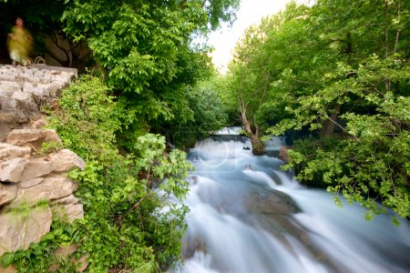 Khurmal Forrest and river rapids in mountains of autonomous Kurdistan Iraq