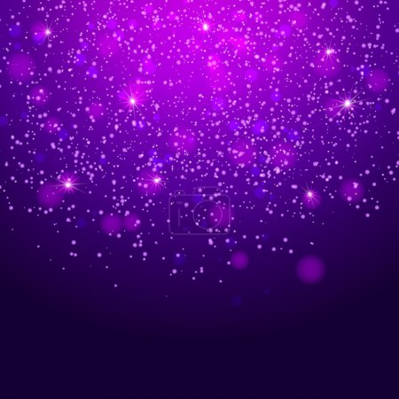 Illustration for Abstract background with magic bokeh - Royalty Free Image