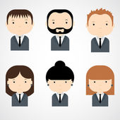 Set of colorful office people icons