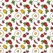 Seamless kitchen background of vegetables