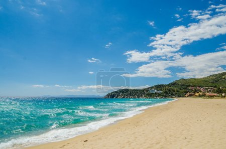 Sandy beach of South coast in Sardinia