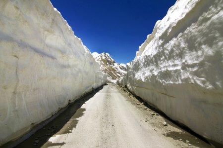 Road through Ice walls