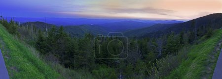 Panoramic View of Smoky Mountains National Park in Summers