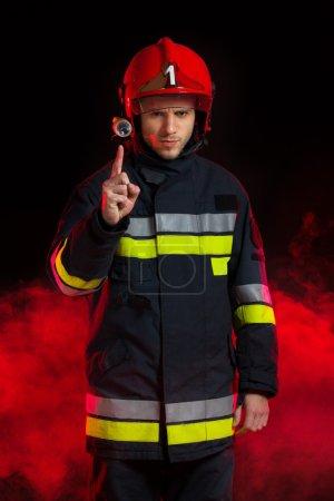 Fireman's safety notice