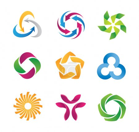 Modern social loop logo and partnership icon template