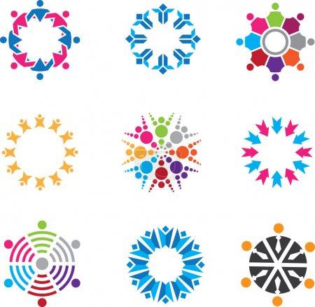 Social symbols of people in community