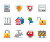 3D Top security icon and logo set for virtual and physical attacks antivirus company corporation