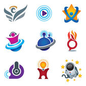 Entertainment and fun symbol of exploring happiness study logo for creative and relax people