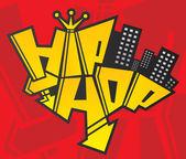 Hip hop druhý symbol městské kultury je znovuzrozený logo šablony