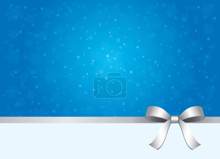 Silver ribbon blue gift package background