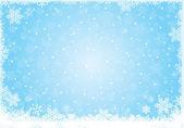 Modré LED bílá sněhová vločka zázemí pro zimní