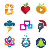 Collection of science innovation warrior symbol design logo template