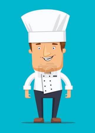 Chief chef cook in kitchen luxury restaurant in uniform illustration