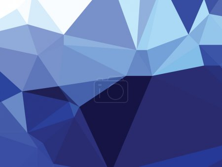 Background abstract triangle geometry pattern royal blue crystal