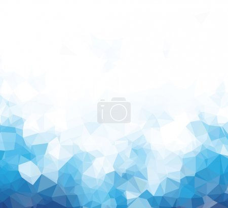 Illustration for Background abstract triangle geometry pattern blue blank page - Royalty Free Image