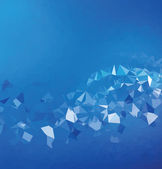 Background abstract triangle geometry pattern blue energy