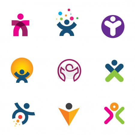 Make impact creating innovation for fulfillment of human potential logo icon