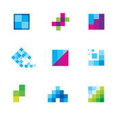 Being creative art with geometric business motive logo icon