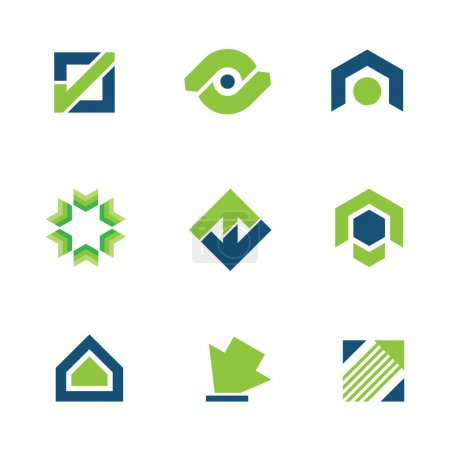 Golden green business success stock story market progress logo icon