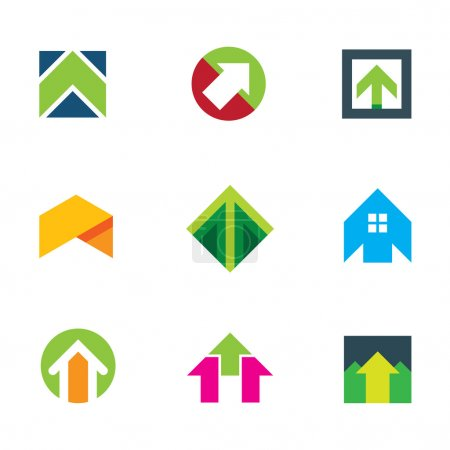 Progress success arrow up to innovation business creative logo icon