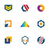 Army badge stripes game developer community computer logo icon set