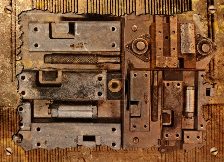 Abstract  collage of a mechanical device