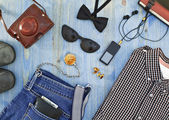 Set of men's clothing and accessories