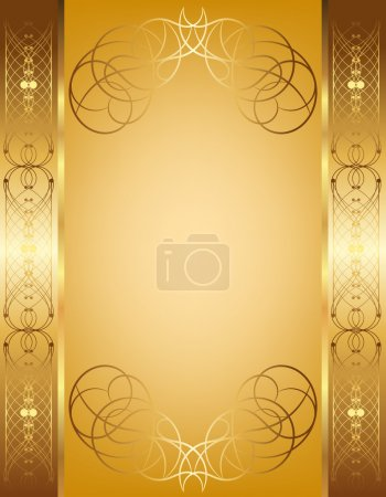 Openwork frame on a gold background