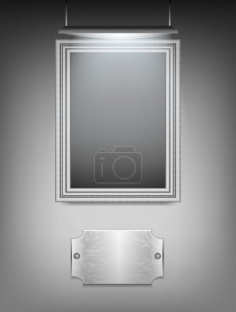Silver frame hanging on the wall