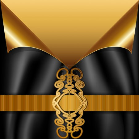 Luxury card in gold and black design.