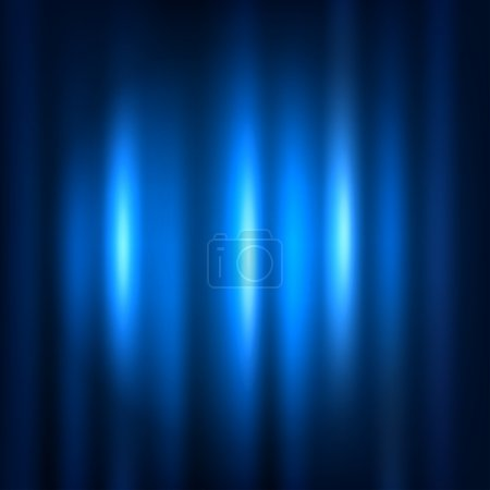 Illustration for Blue curtain with spot light. - Royalty Free Image