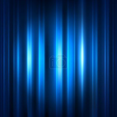 Blue abstract background with strips and patches of light