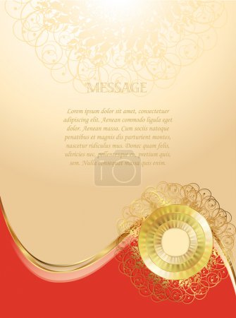 Illustration for Original form for your message, greeting card - Royalty Free Image
