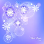 Delicate purple background with white flowers