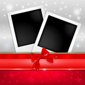 Template photo frames with Christmas designs