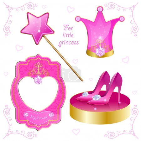 Set of magical objects for your little princess