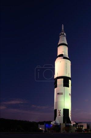 Saturn V in the Nightlights