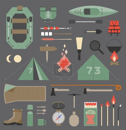 Illustration for Camping infographics set - Royalty Free Image