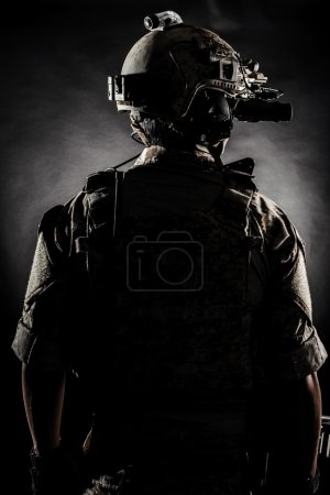 Soldier man back style fashion